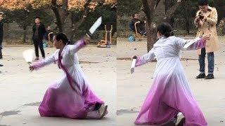 考研还是玩命?朝鲜族刀舞了解一下