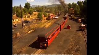 7/7/2018 Seven car train 216 departs Chama, NM