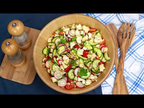 ???? Gerösteter Blumenkohlsalat mit viel Gemüse
