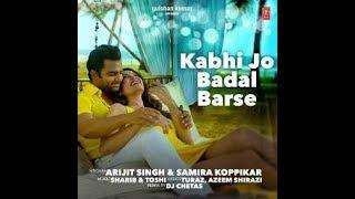 kabhi jo badal barse karaoke with lyrics