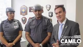 Homenagem aos policiais que foram agredidos durante invasão da ALESP