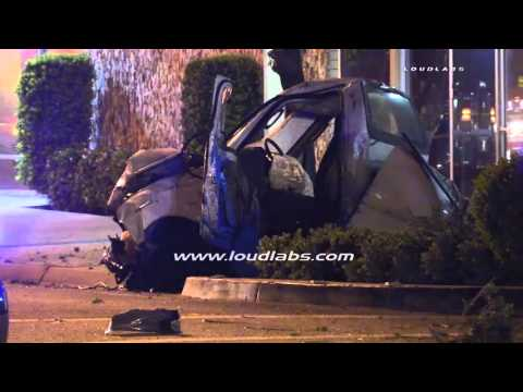 Traffic Collision Leaves One In Grave Condition / Riverside   RAW FOOTAGE