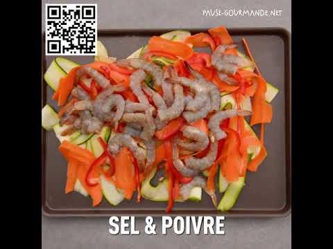 crevettes-marinées-et-tagliatelles-de-courgettes-et-carottes.-c'est-light-et-délicieux.