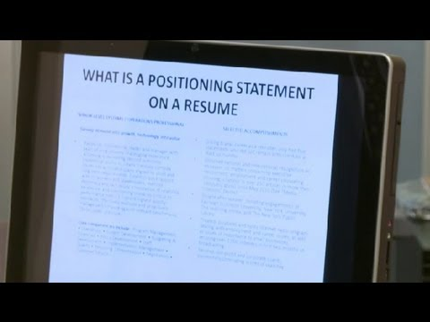 what is a positioning statement for a resume career tips youtube