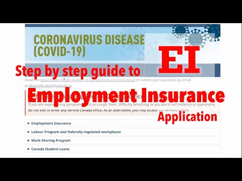 March 2020 - EI Step By Step Application. ROE, MSCA? Regular & Sickness Benefit, Emergency Benefit