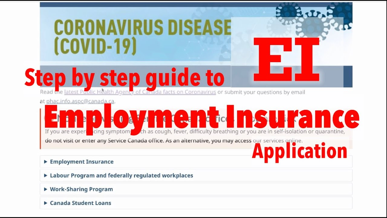 March 2020 Ei Step By Step Application Roe Msca Regular Sickness Benefit Emergency Benefit Youtube
