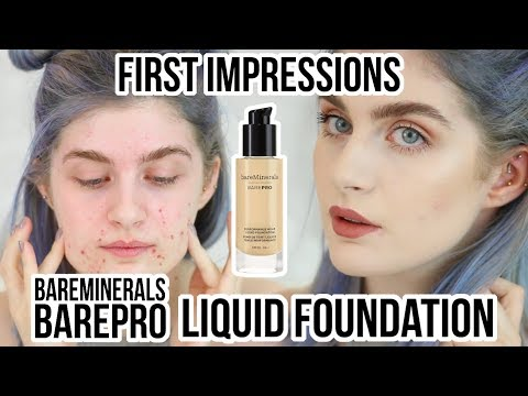 bareMinerals BarePRO Performance Wear Liquid Foundation First Impressions + Review | Raquel Mendes