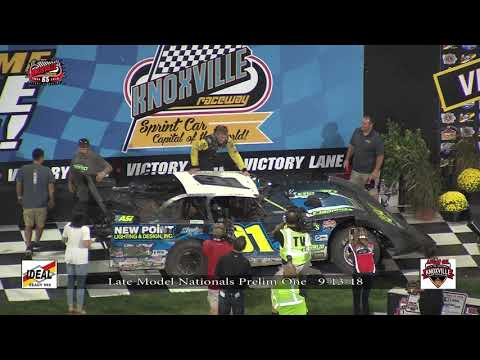 Knoxville Raceway Late Model Nationals 9-13-18 Prelim #1