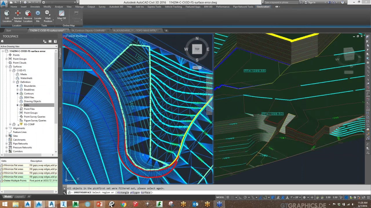 Infrastructure Tuesday: Smoothing Contour Lines in Civil 3D