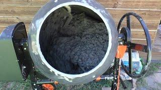 видео как приготовить бетон в бетономешалке