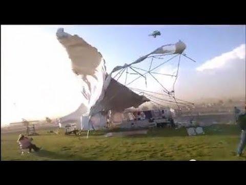 Wind Storm Destroys Awning Albuquerque Folk Festival