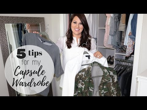 MY CAPSULE WARDROBE | 5 TIPS FOR CLOTHING | BASIC OUTFITS