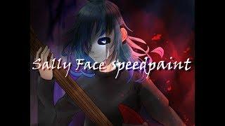【Sally Face】  speedpaint | clip studio paint | The Trial episode 4