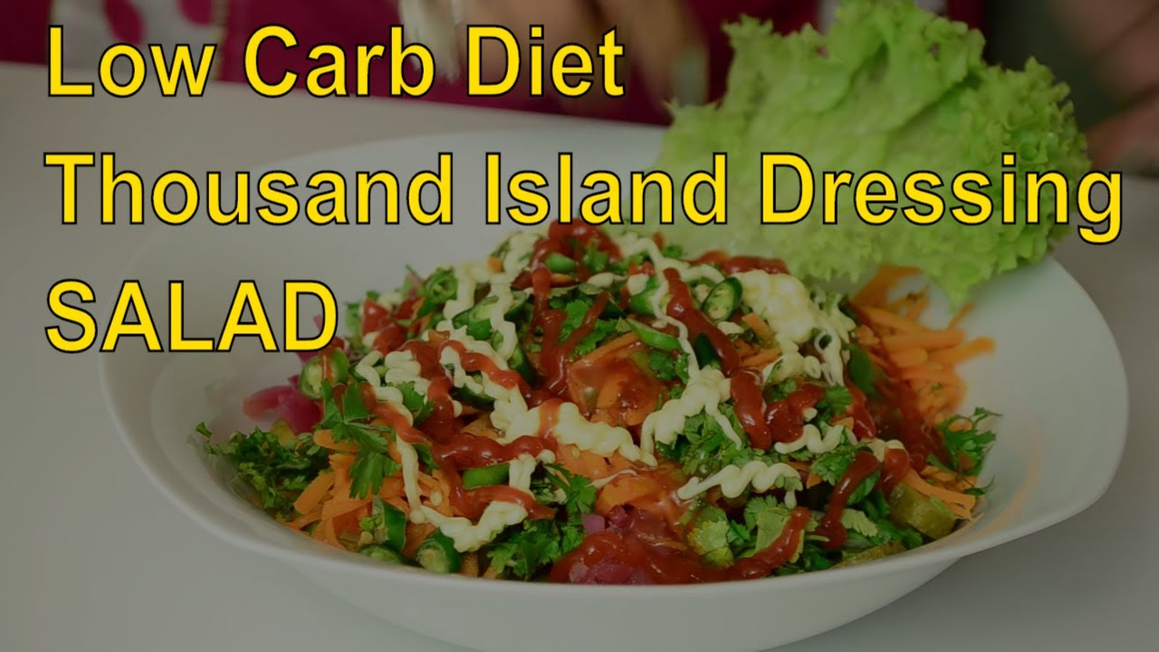 Tossed Green Salad With Thousand Island Dressing