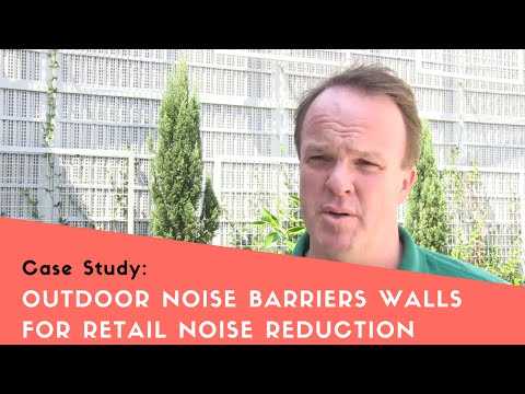Outdoor Noise Barrier Walls for Retail Noise Reduction - YouTube