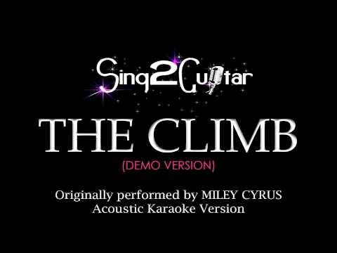 The Climb (Acoustic Guitar Karaoke Version) Miley Cyrus