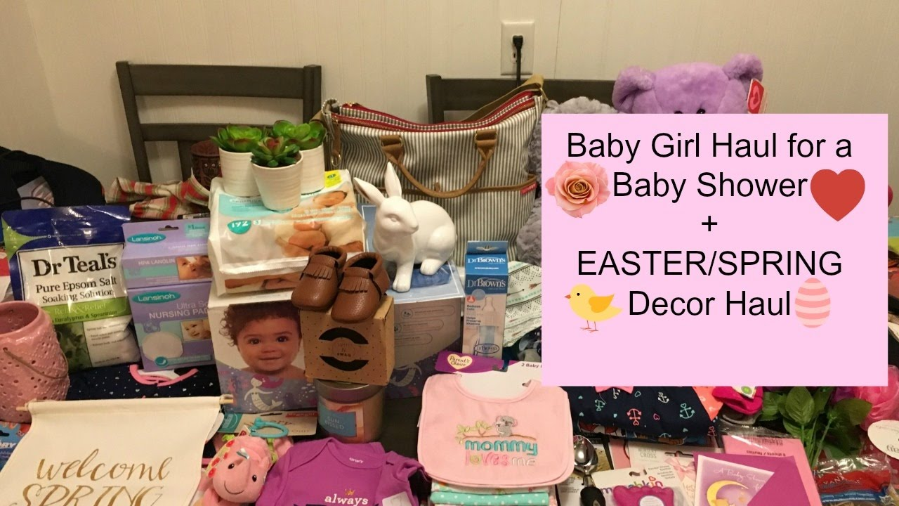 Baby girl shower gift haultarget wal mart carters sweet n swag baby girl shower gift haultarget wal mart carters sweet n swag easterspring decor haul negle Choice Image