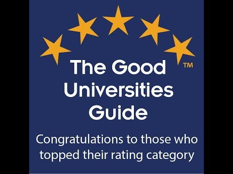 Good Universities Guide 2018 - best rating category results