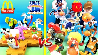 McDONALD'S SPACE JAM 1 VS SPACE JAM 2 HAPPY MEAL TOYS COLLECTION COMPLETE SET UNBOXING 1996 2021