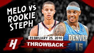 Rookie Stephen Curry vs Carmelo Anthony SICK Duel Highlights (2010.02.25) - Melo is IMPRESSED!