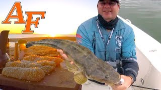 Delicious Flathead Catch and Cook w Loads of Barramundi Jacks and Cod EP.415