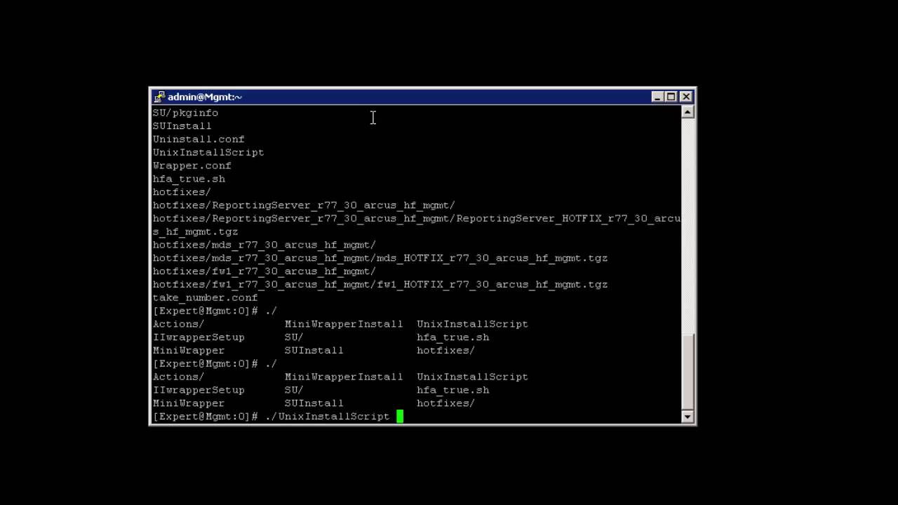 01 Installing the Management Server Hotfix