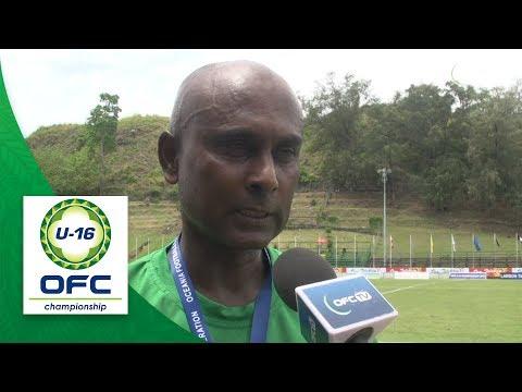 2018 OFC U16 CHAMPIONSHIP - Fiji v New Caledonia - Post Match Interview