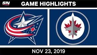 NHL Highlights   Blue Jackets vs. Jets – Nov. 23, 2019