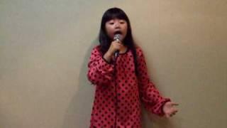 ささきまい 七歳 小学一年生が歌います.