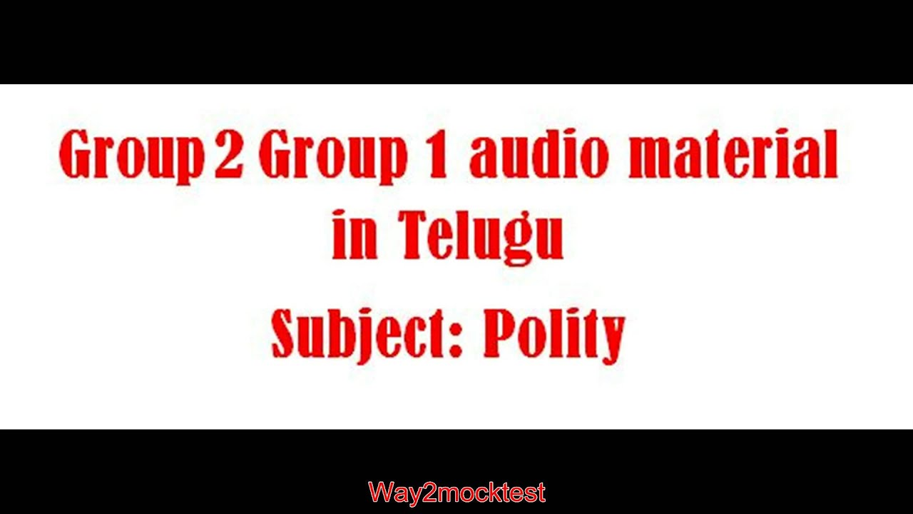appsc group 2 audio material in telugu free download