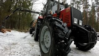 Zrywka drewna #9  (MTZ 820 i Palms 9S+670)