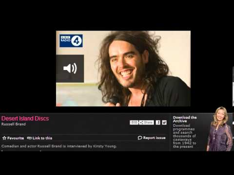 Russell Brand Desert Island Discs BBC Radio