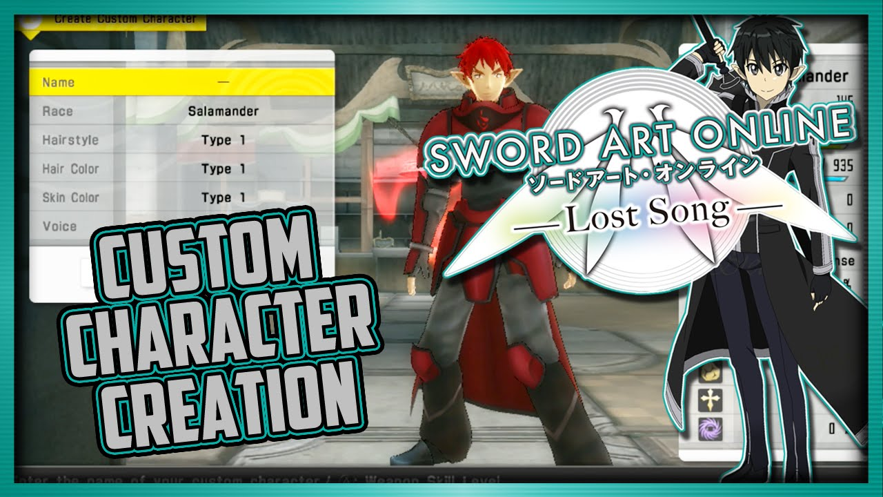 Custom Character Creation | Sword Art Online: Lost Song (PS Vita/PS4)