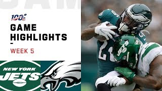 Jets vs. Eagles Week 5 Highlights | NFL 2019