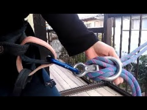ボルダラーがエイト環を使った懸垂下降の練習【閲覧注意!間違い映像連発】