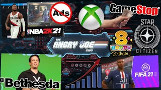 AJS News- NBA 2k21 Forces Unskippable Ads, Madden 21 Ban Rant, FIFA Sales, Xbox Bethesda Exclusives?