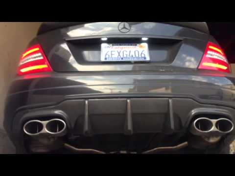 Meisterschaft gt performance exhaust on w204 mercedes benz for Mercedes benz racing parts