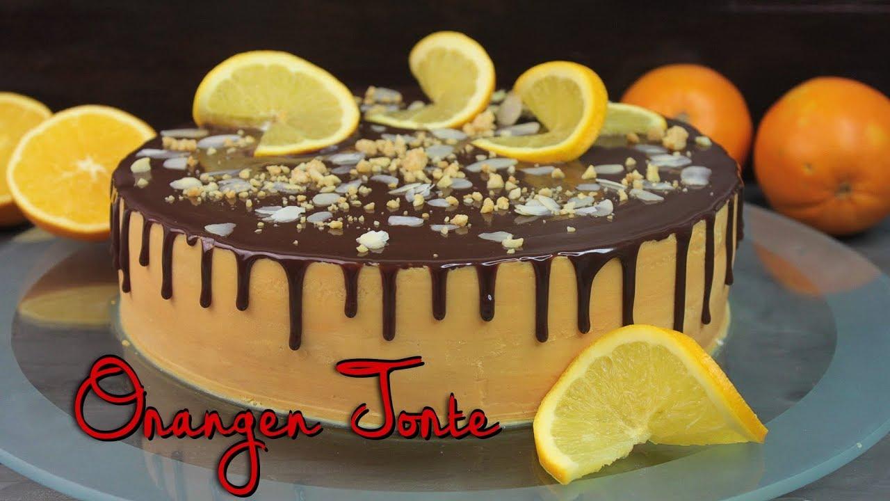 Schoko Orangen Torte Backen Drip Cake Selber Machen Orangentorte