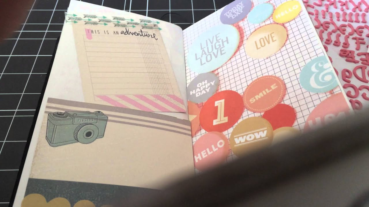 Midori traveler 39 s notebook page decoration youtube for How to decorate
