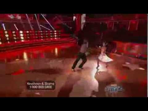 Keyshawn Johnson and Sharna Burgess - Samba - Week 2