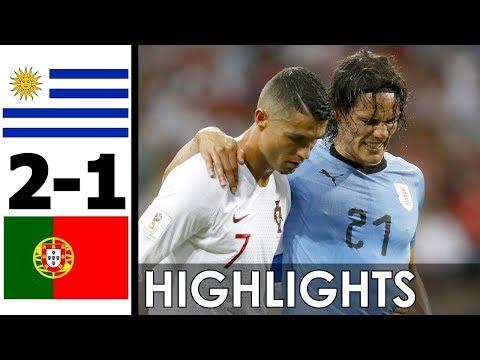 ЧМ-2018: Уругвай vs. Португалия. 1/8 финала - Полный обзор, ВСЕ ГОЛЫ