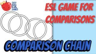 ESL Game for Comparisons   Comparison Chain   Easy ESL Games