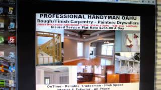 Oahus Day Rate Home Repair Specialist Capentry, Hardwood-Flooring Drywall OahuHome.net