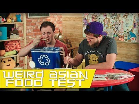 GAMERS TRY WEIRD ASIAN FOOD! (TASTE TEST)