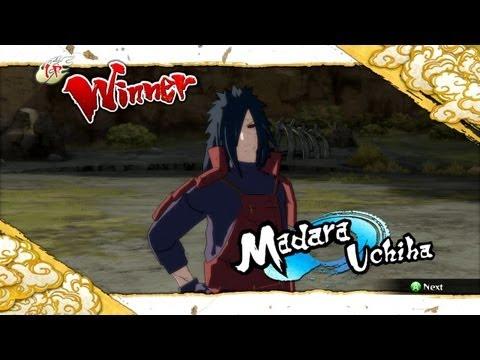 Naruto Ultimate Ninja Storm 3 Edo Madara  Complete Moveset with Command List
