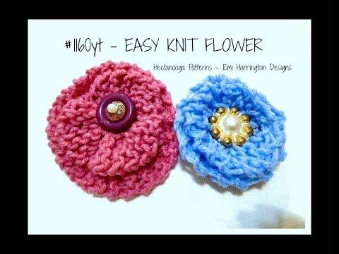 Easy Knitted Flower Knitting For Beginners Youtube