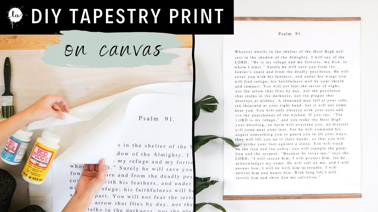 No Writing Needed Diy Easy Bible Verse Print Turned Into Fabric