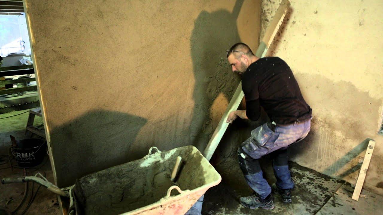 putsning av vägg