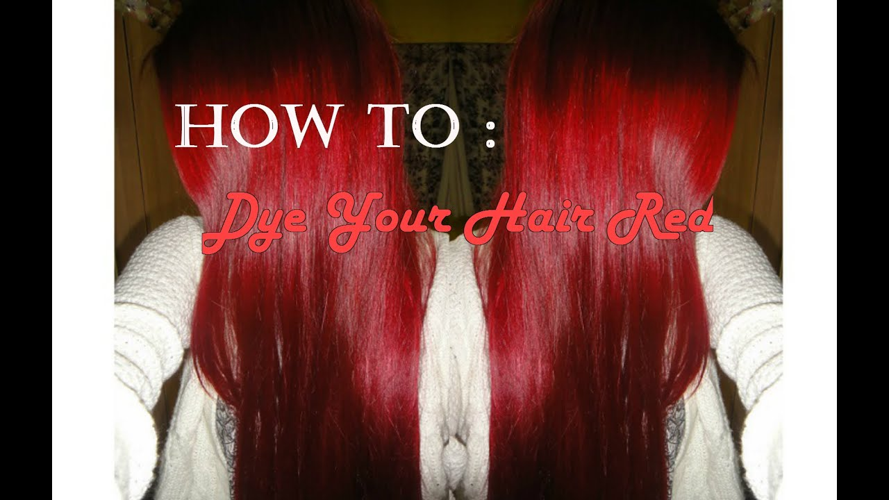 How to Dye Your Hair Red at Home - YouTube