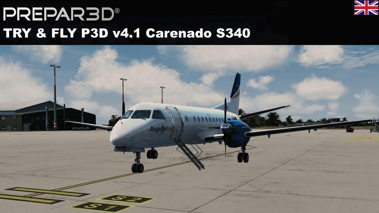 [P3DV4] TRY & FLY Carenado SF 340 (ENGLISH) by Kosta Prokopiu